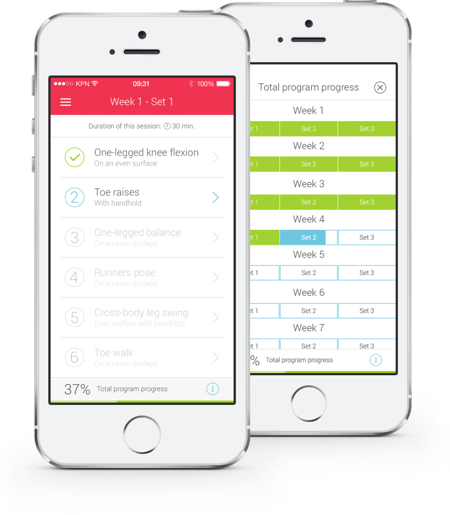 Ankle app - Feedforward and prgression